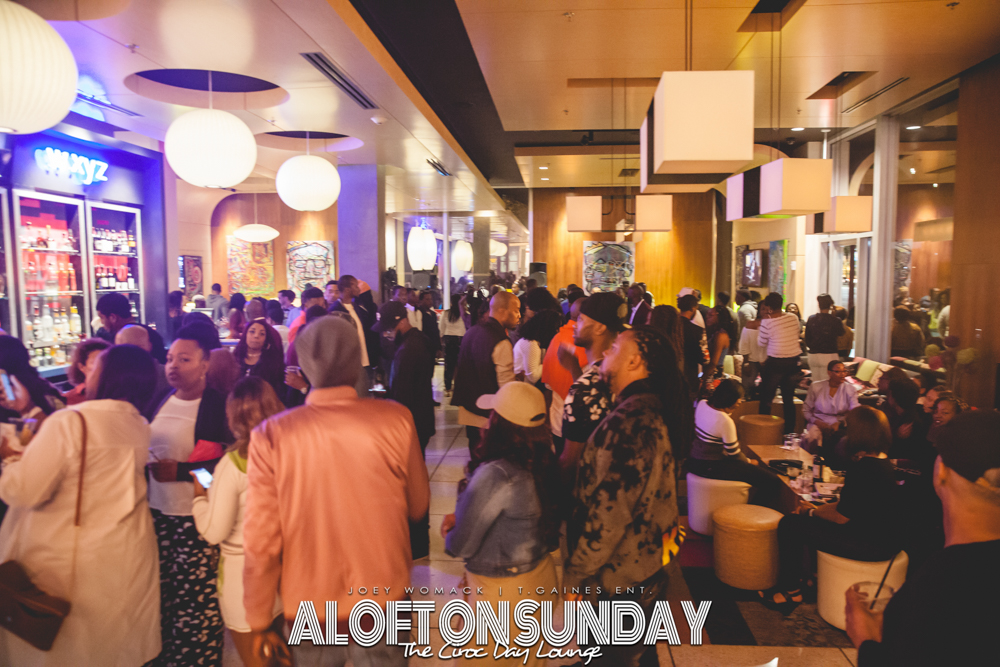 Aloft on Sunday The Ciroc Day Lounge | Joey Womack | T.Gaines Entertainment